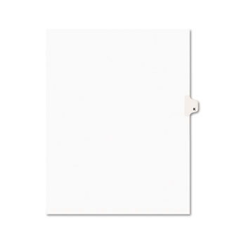 Avery® Individual Legal Dividers Style, Letter Size, Avery-Style, Side Tab Dividers, K, 25/PK