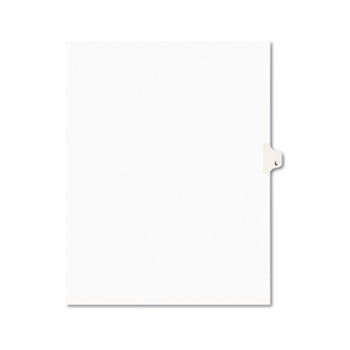 Avery® Individual Legal Dividers Style, Letter Size, Avery-Style, Side Tab Dividers, L, 25/PK