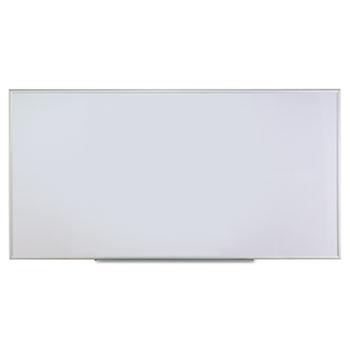 Universal Dry Erase Board, Melamine, 96 x 48, Satin-Finished Aluminum Frame