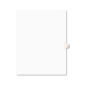 Individual Legal Dividers Style, Letter Size, Avery-Style, Side Tab Dividers, O, 25/PK