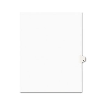 Individual Legal Dividers Style, Letter Size, Avery-Style, Side Tab Dividers, P, 25/PK