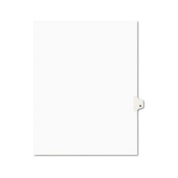 Avery® Individual Legal Dividers Style, Letter Size, Avery-Style, Side Tab Dividers, Q, 25/PK