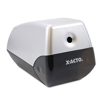 X-ACTO® Helix Office Electric Pencil Sharpener, Silver/Black