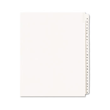 Collated Legal Dividers Allstate® Style, Side Tab Dividers, Letter Size, A-Z Tab Set