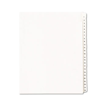 Avery® Collated Legal Dividers Allstate® Style, Side Tab Dividers, Letter Size, 1-25 Tab Set