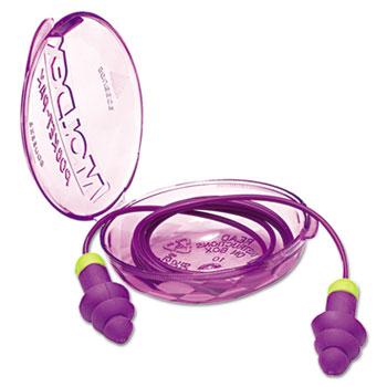 Moldex® Rockets Reusable Earplugs, Corded, 27NRR, Purple/Bright Green, 50 Pairs