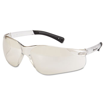Crews® BearKat Safety Glasses, Frost Frame, Clear Mirror Lens