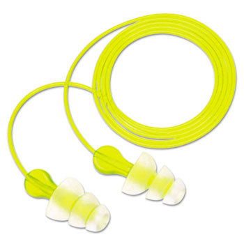 3M™ Tri-Flange Earplugs, Corded, NRR 26