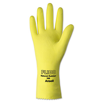 AnsellPro Unsupported Latex Gloves, Size 10, Light Duty