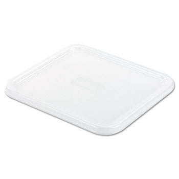Rubbermaid® Commercial SpaceSaver Square Container Lids, 8 4/5w x 8 3/4d, White