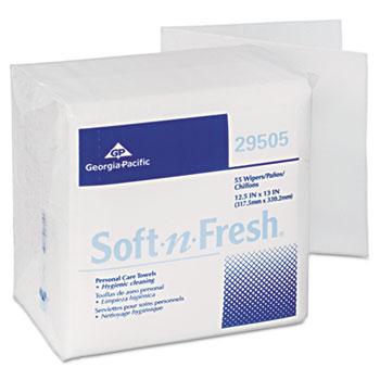 Georgia Pacific® Soft-n-Fresh Airlaid Wipers, 12 1/2 x 13, 990/Carton
