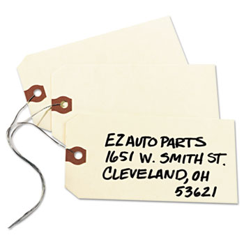 """Avery® Shipping Tags, Manila, Wired, 5 1/4"""" x 2 5/8"""", 1000/BX"""