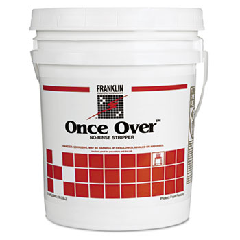 Franklin Cleaning Technology® Once Over Floor Stripper, Mint Scent, Liquid, 5 gal. Pail