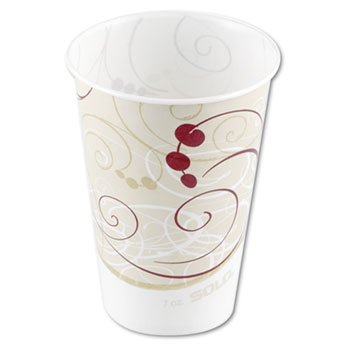 SOLO® Cup Company Waxed Paper Cold Cups, 7 oz, Symphony Design