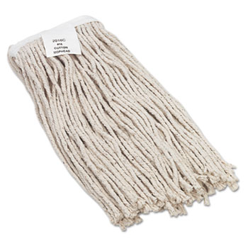 Boardwalk® Mop Head, Value Standard Head, Rayon Fiber, Cut-End, Size No. 16, WE, 12/Carton