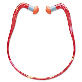 Howard Leight® by Honeywell QB3HYG Banded Multi-Use Earplugs, 23NRR, Red Band/Orange Plug, 10/BX