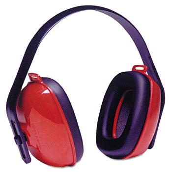 Howard Leight® by Honeywell QM24+ Three-Position Earmuffs, 24NRR, Red/Black