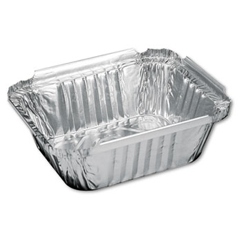 Handi-Foil of America® Aluminum Oblong Container, 1 Pound, 5-9/16 x 4-9/16 x 1-5/8