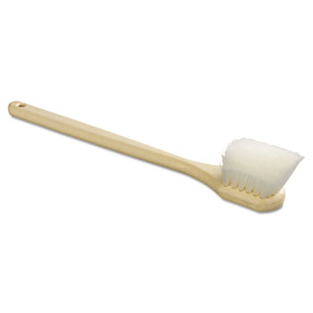 "Boardwalk® Utility Brush, Nylon Fill, 20"" Long, Tan Handle"