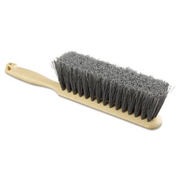 "Counter Brush, Flagged Polypropylene Fill, 8"" Long, Tan Handle"