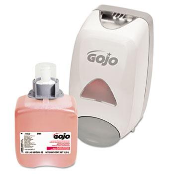 GOJO® Luxury Foam Handwash Starter Kit with FMX-12™ 1250mL Dispenser and Soap Refill, Gray