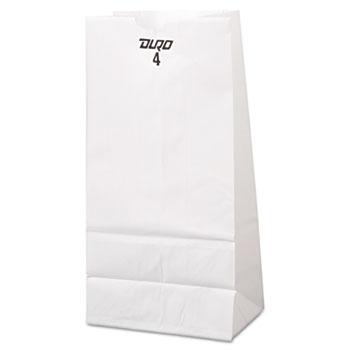 General #4 Paper Grocery Bag, 30lb White, Standard 5 x 3 1/3 x 9 3/4, 500 bags