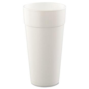 Dart® Cups, Foam, 24oz, White, 25/Pack, 20 Packs/CT