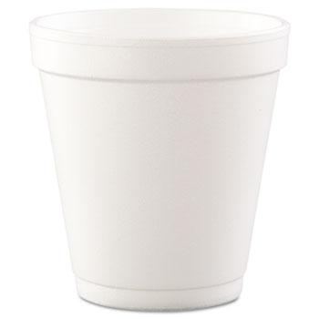 Dart® Conex®Cups, Foam, 10oz, White, 40/Bag, 25 Bags/CT