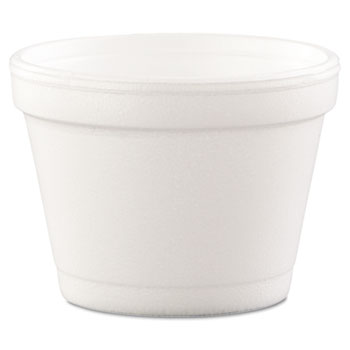 Dart® Containers, Foam, 4oz, White, 1000/CT