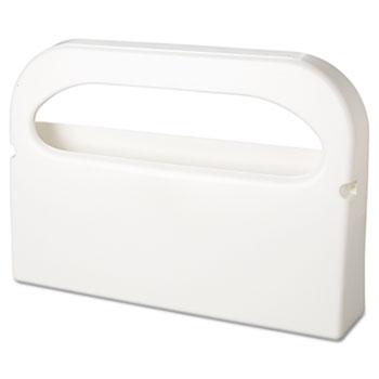 "HOSPECO® Toilet Seat Cover Dispenser, Half-Fold, Plastic, White, 16""W x 3-1/4""D x 11-1/2""H, 2/BX"