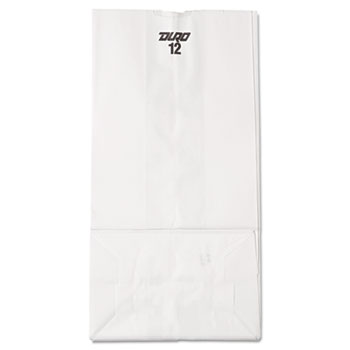 General 12# Paper Bag, 40lb, White, 7 1/16 x 4 1/2 x 13 3/4, 500/Pack
