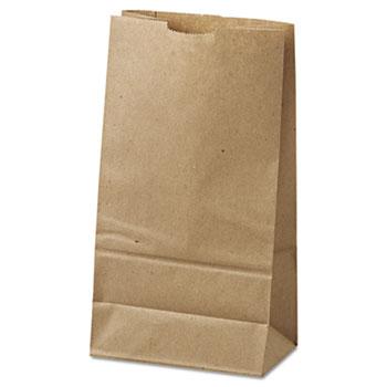 General #6 Paper Grocery Bag, 35lb Kraft, Standard 6 x 3 5/8 x 11 1/16, 500 bags