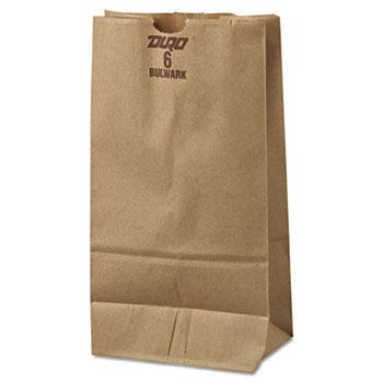 #6 Paper Grocery Bag, 50lb Kraft, Extra-Heavy-Duty 6 x 3 5/8 x 11 1/16, 500 bags