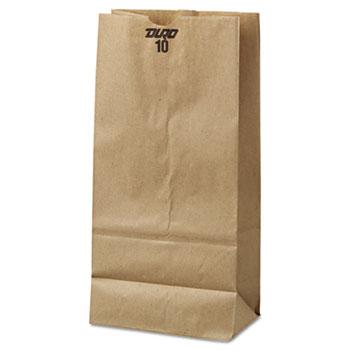 General #10 Paper Grocery Bag, 35lb Kraft, Standard 6 5/16 x 4 3/16 x 13 3/8, 500 bags