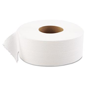 "GEN JRT Jumbo Bath Tissue, Septic Safe, 1-Ply, White, 9"" dia, 12 Rolls/Carton"