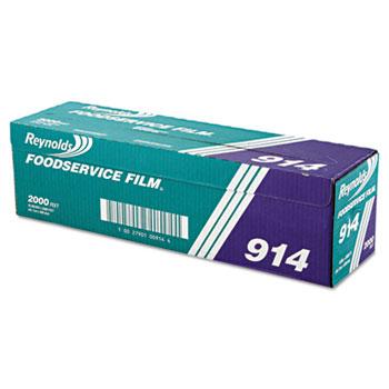 "Reynolds® PVC Film Roll w/Cutter Box, 18"" x 2000ft, Clear"