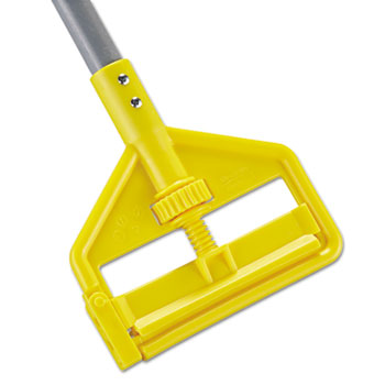 Rubbermaid® Commercial Invader Fiberglass Side-Gate Wet-Mop Handle, 1 dia x 60, Gray/Yellow