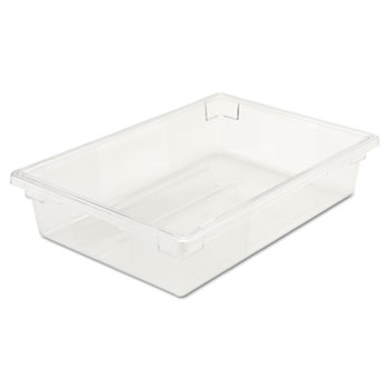 Rubbermaid® Commercial Food/Tote Boxes, 8 1/2gal, 26w x 18d x 6h, Clear