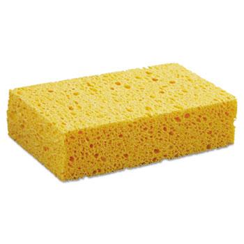 "Boardwalk® Medium Cellulose Sponge, 3 2/3 x 6 2/25"", 1.55"" Thick, Yellow, 24/Carton"