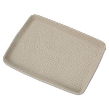 Chinet® StrongHolder Molded Fiber Food Trays, 9 x 12 x 1, Beige, Rectangular, 250/Carton