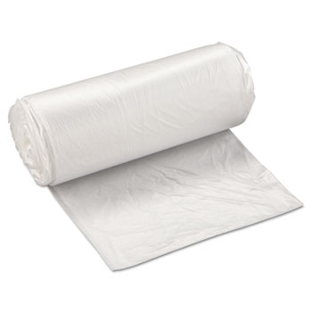 Inteplast Group High-Density Can Liner, 24 x 33, 16gal, 8mic, Clear, 50/Roll, 20 Rolls/Carton
