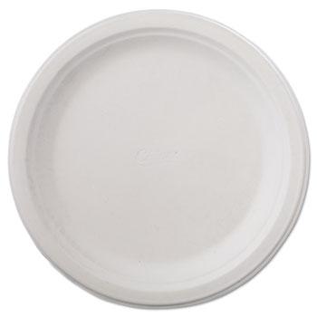 """Chinet® Classic Paper Dinnerware, Plate, 9 3/4"""" dia, White, 125/Pack, 4 Packs/Carton"""