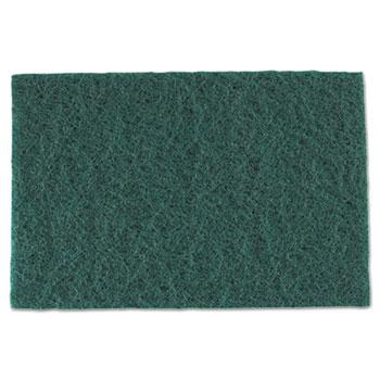 "Royal Medium-Duty Scouring Pad, 6"" x 9"", Green, 60/CT"