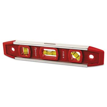 "Anchor Brand® Magnetic Torpedo Level, 9"" Long, Aluminum, Tri-Vial"