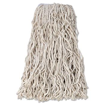 "Rubbermaid® Commercial Economy Cut-End Cotton Wet Mop Head, 24 oz., 1"" Band, White, 12/CT"