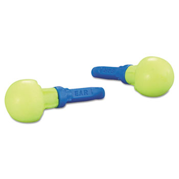 E·A·R Push-Ins Earplugs, Cordless, 28NRR, Yellow/Blue, 100 Pairs