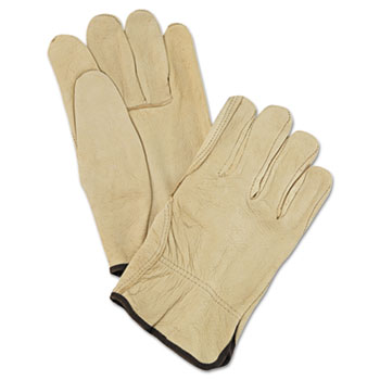 Memphis™ Unlined Pigskin Driver Gloves, Cream, Large, 12 Pairs
