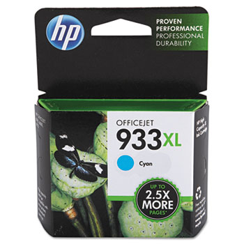 HP 933XL Ink Cartridge, Cyan (CN054AN)