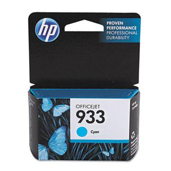 HP 933 Ink Cartridge, Cyan (CN058AN)