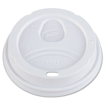 Dixie® Dome Drink-Thru Lids, Fits 12-16oz Large Paper Hot Cups, White, 1000/CT